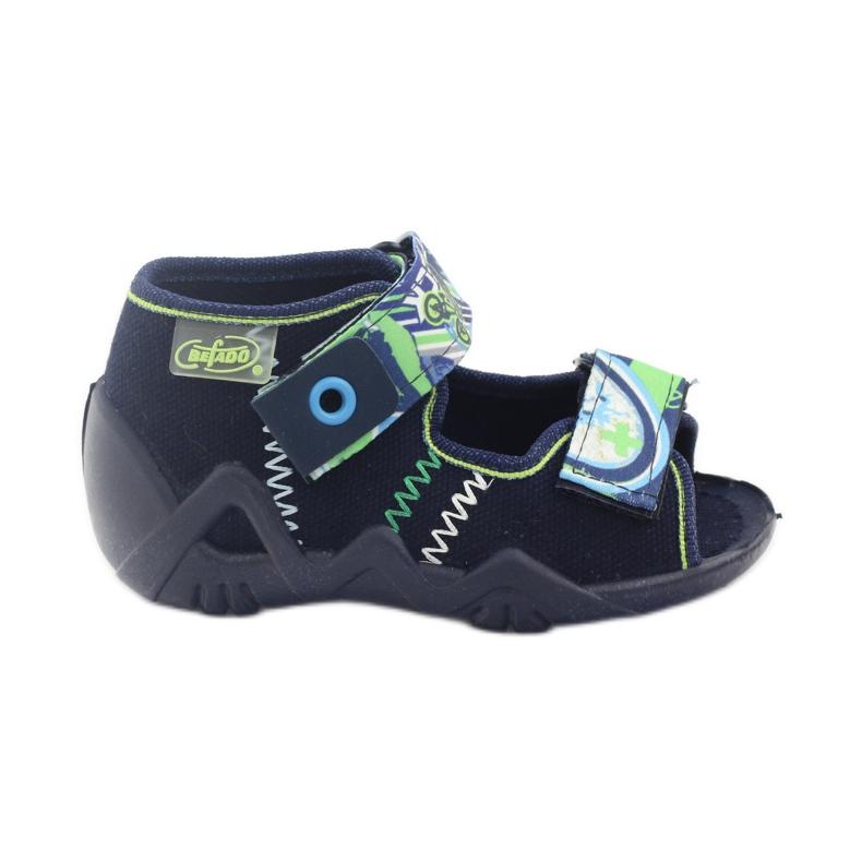 Befado children's shoes slippers sandals 250p058 navy green