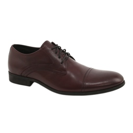 Shoes laced maroon Pilpol 1674