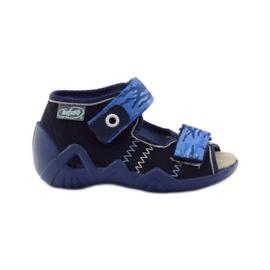 Sandals Befado 250p leather insert navy blue