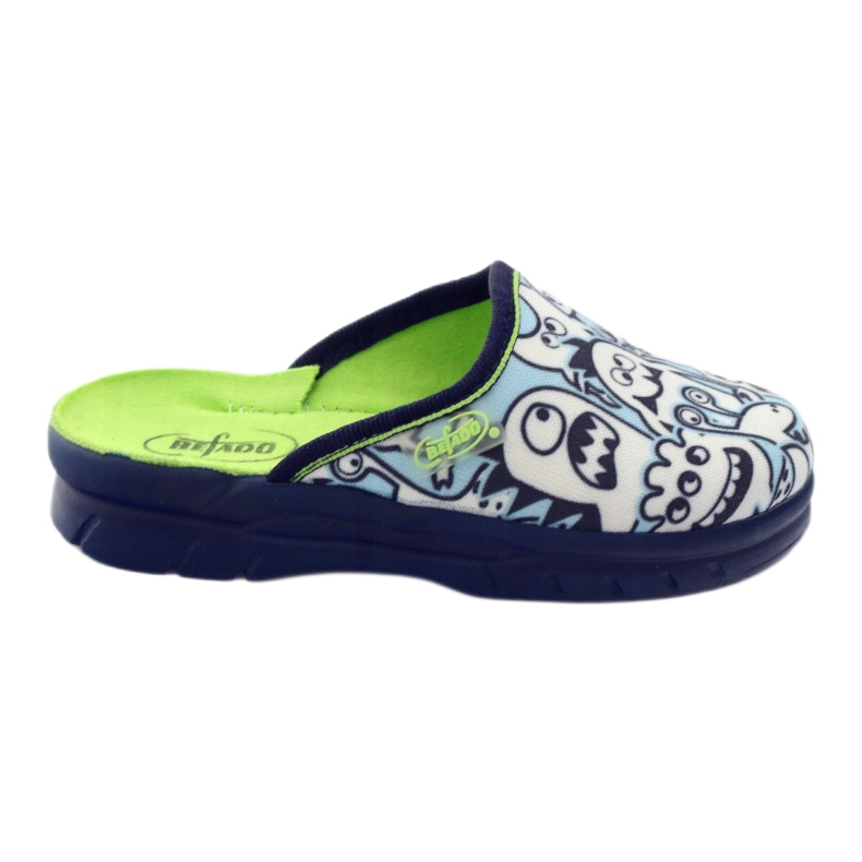 Befado children's shoes slippers for coloring white navy blue