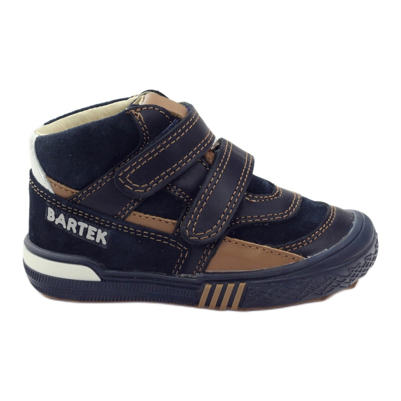 Preventive shoes Bartek 91756 new navy brown white