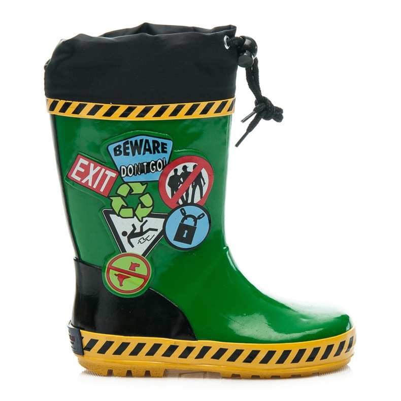 American Club Galoshes With Ribbed green