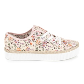 Kylie Lace espadrilles with flowers multicolored