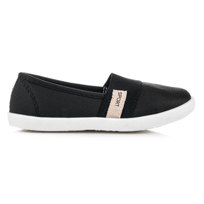 Bella Star Textile Girls Shoes black