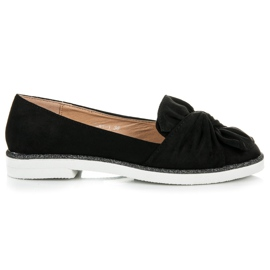 Vices Suede Footwear With Glitter Decoration black