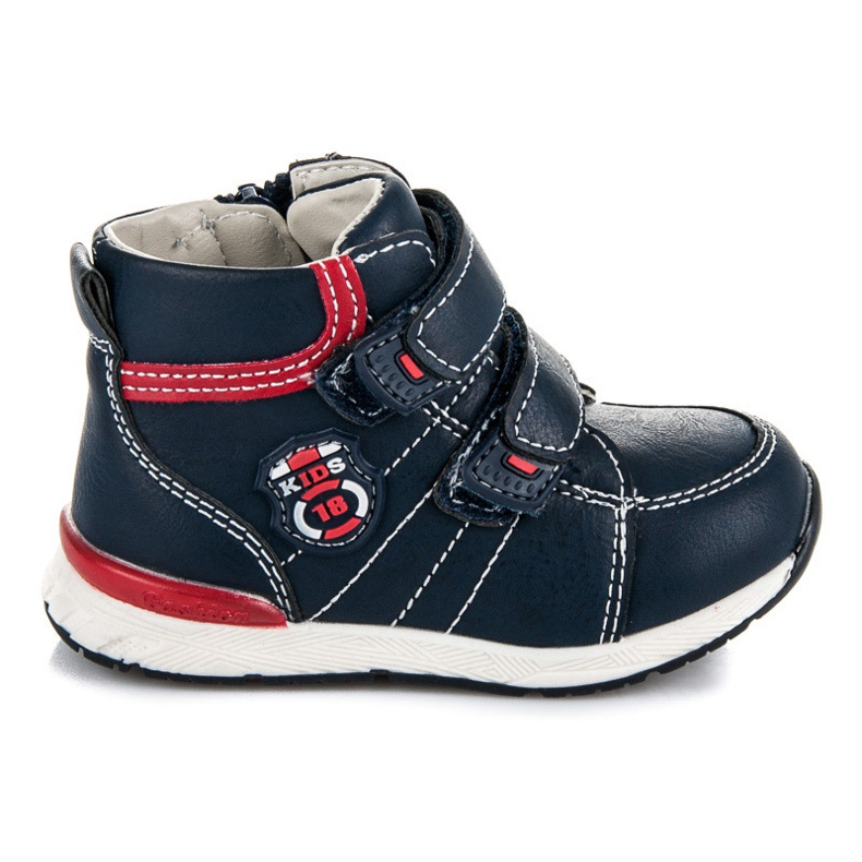American Club Velcro booties for a boy blue