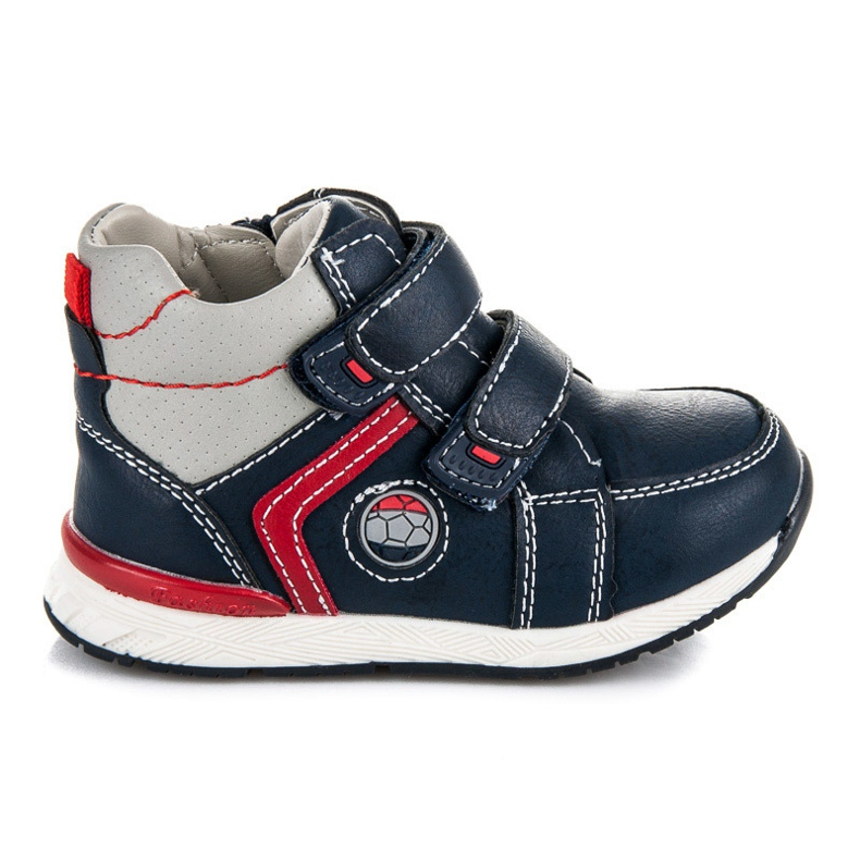 American Club Footwear With Velcro and zip blue