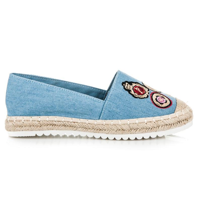Jolyvia Denim espadrilles with patches blue