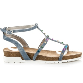 Blue Sandals at Kotlina KYLIE