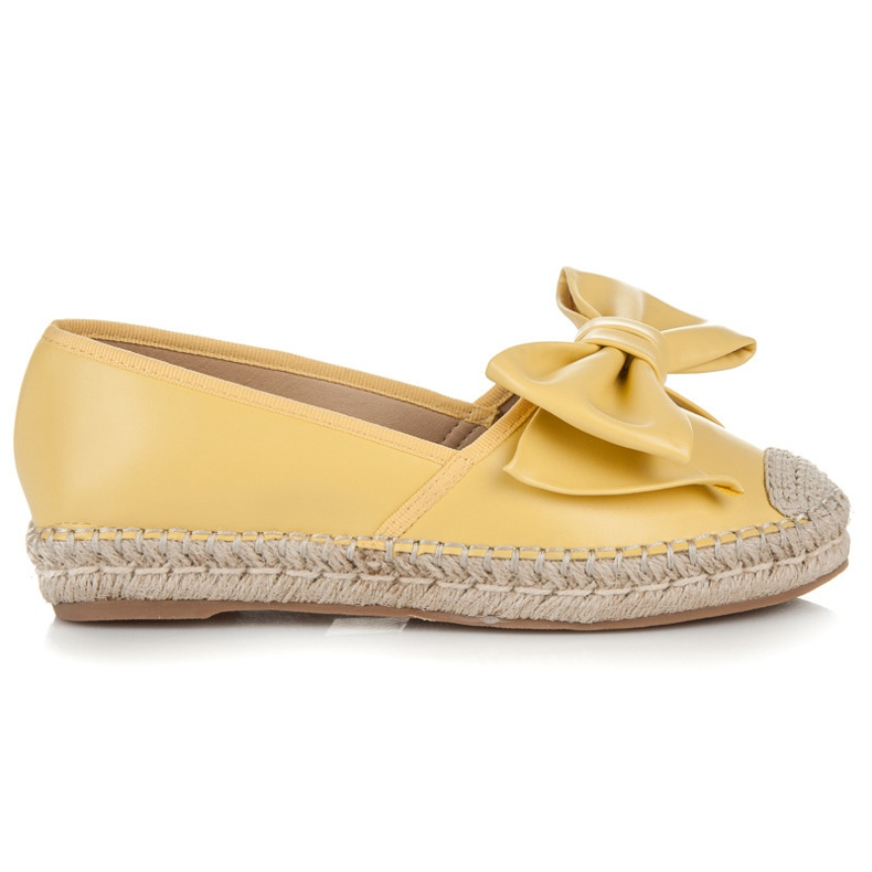 Vices Espadrilles on the platform with a bow yellow