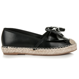 Vices Espadrilles on the platform with a bow black