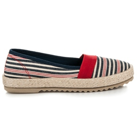 Vices Espadrilles On the Striped Platform red