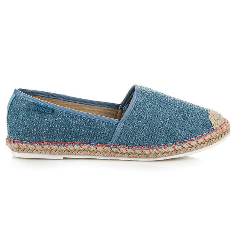 Vices Espadrilles with a pattern blue