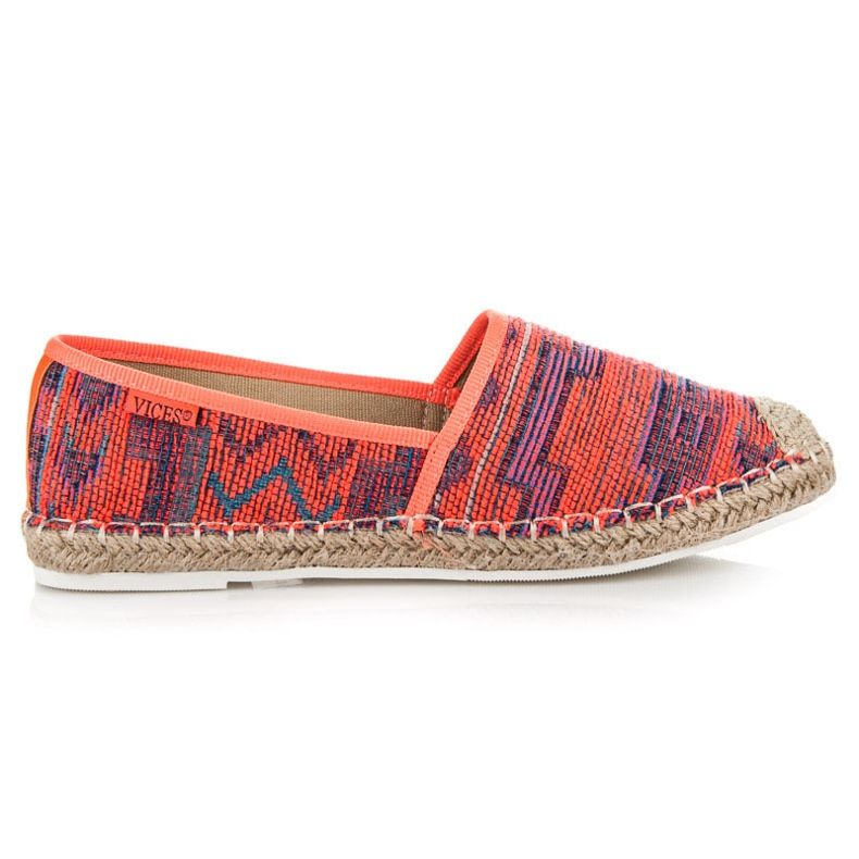 Vices Espadrilles with an ethnic pattern multicolored
