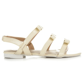 Vices yellow Lacquered Sandals With Bows