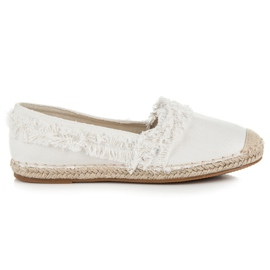Vices White Espadrilles With Tassels