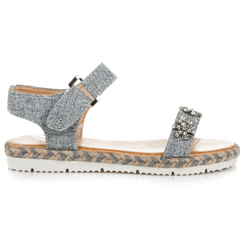 Vices Espadrilles sandals with Velcro grey