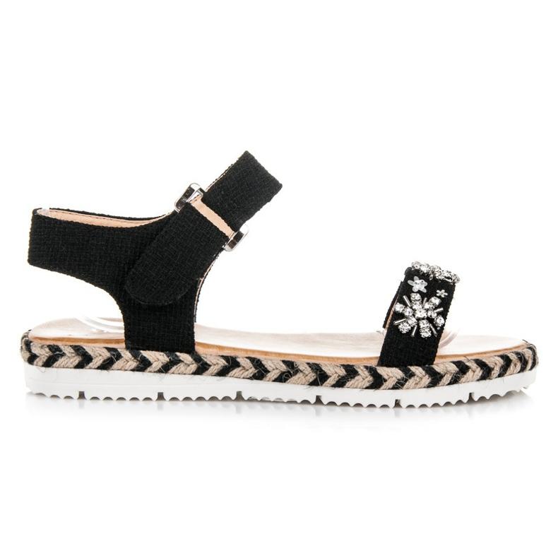 Vices Sandals Espadrilles With Velcro black