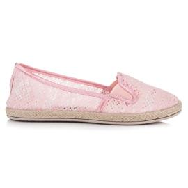 Balada Lace Espadrilles Slip On pink