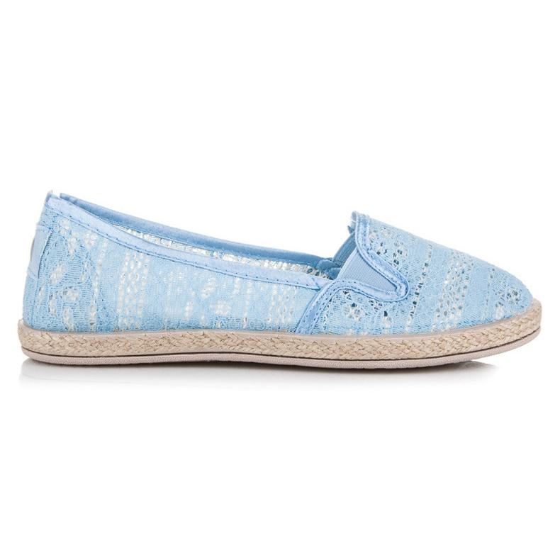 Balada Lace Espadrilles Slip On blue
