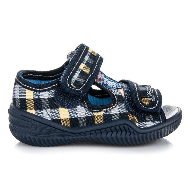 Viggami Boys' Checkered Shoes blue