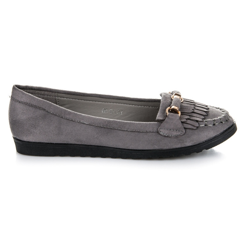 Seastar Loafers With Fringes grey