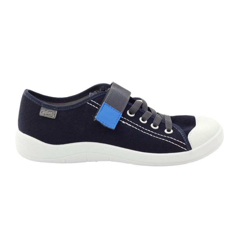 Velcro sneakers Befado 251Y047 navy blue grey