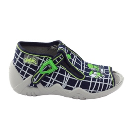 Befado children's shoes slippers 217p087 navy green