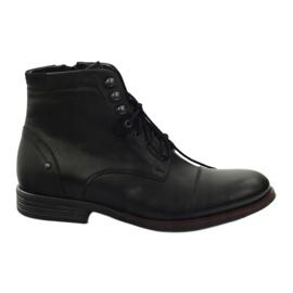 Winter boots with Pilpol 6009 zip black