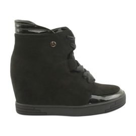 Sergio Leone Boots Sneakers With Zipper Bow black