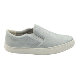 American Club grey Sport sneakers with leather insert 16541