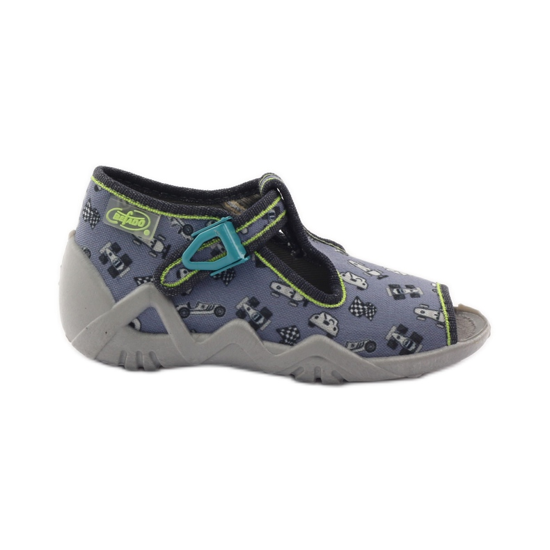 Slippers chasers Befado 217p092 green grey black white