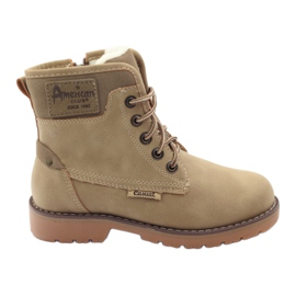 American Club brown Winter boots, boots, boots, slider American 1904, beige