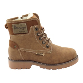 American Club brown Winter boots, boots, boots, zipper American 1904 camel