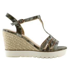 Sandals espadrilles white sole Black green grey