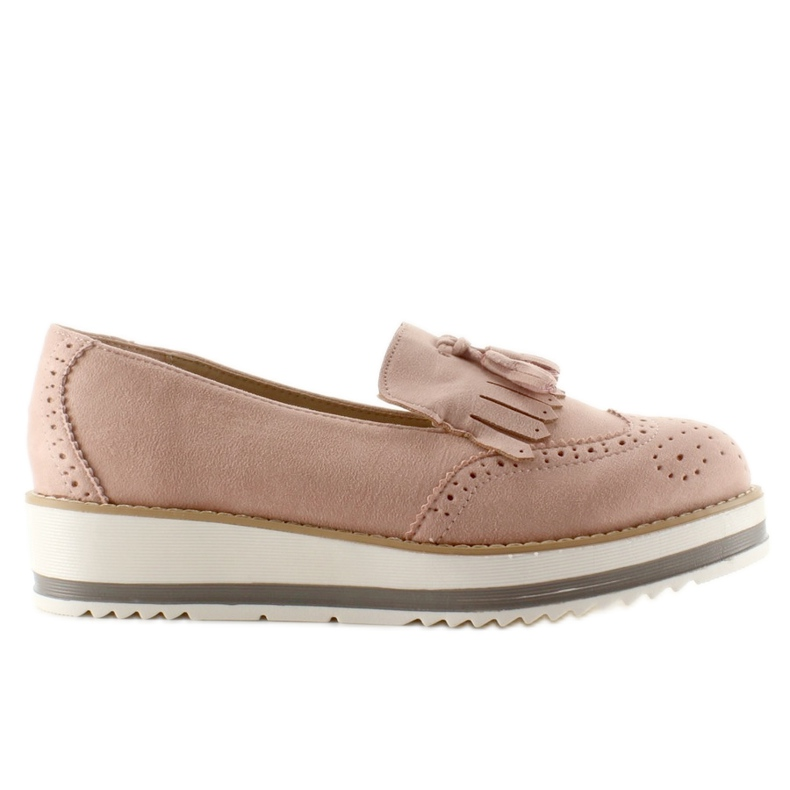 Moccasins On High Sole 7149 Pink