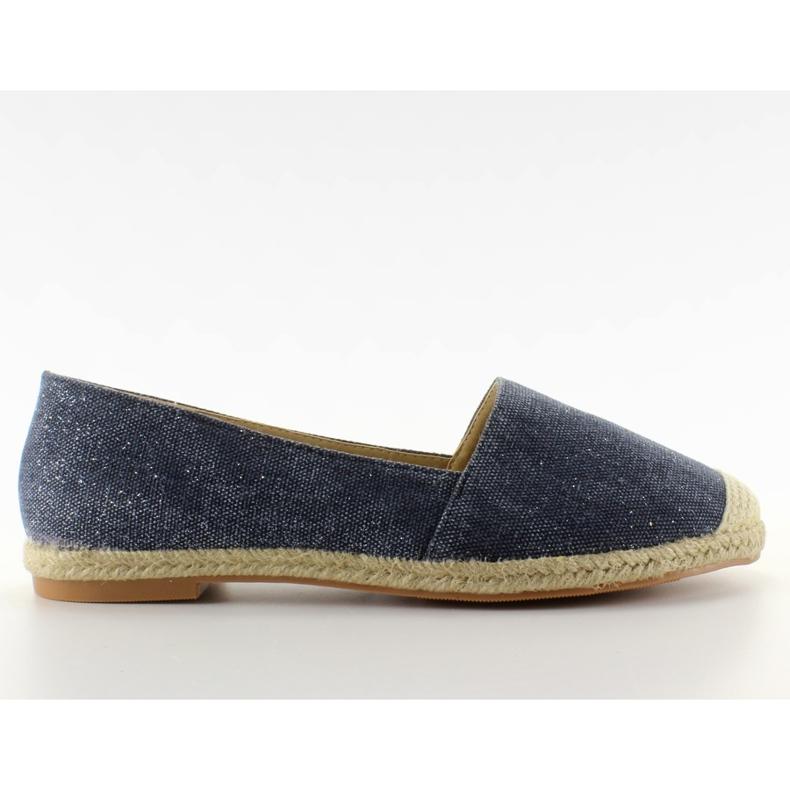 Espadrilles with linen toes JH23P D. Blue
