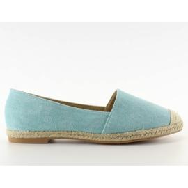 Espadrilles with linen toes JH23P L. Blue