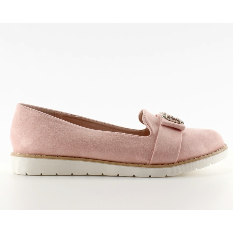 Pastel suede loafers T245 Pink