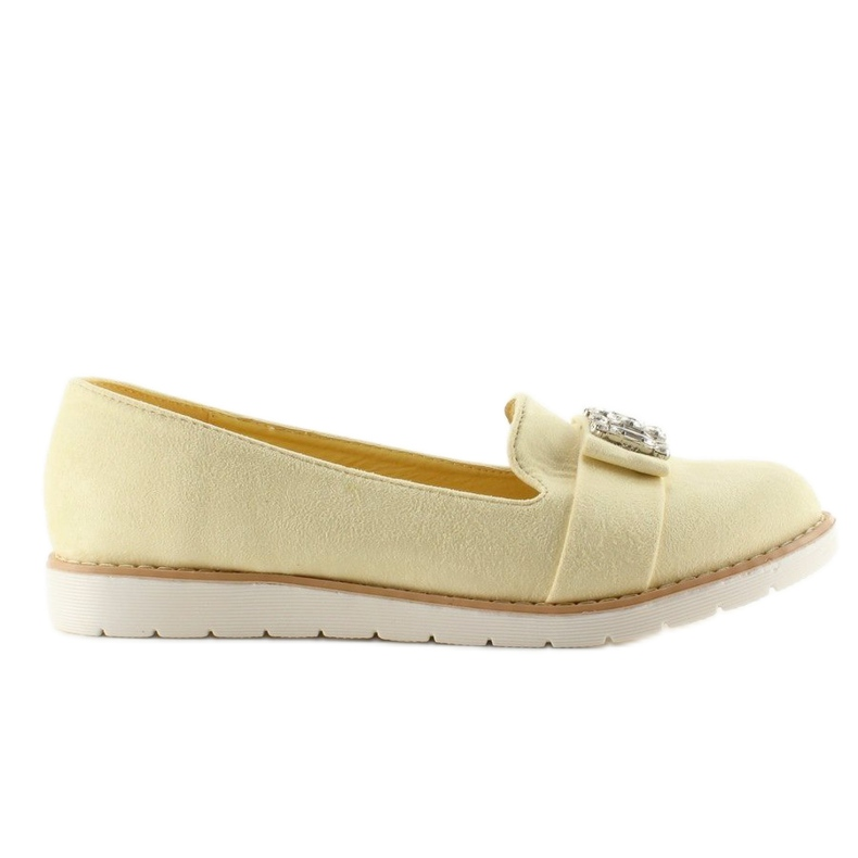 Pastel suede T245 Yellow moccasins