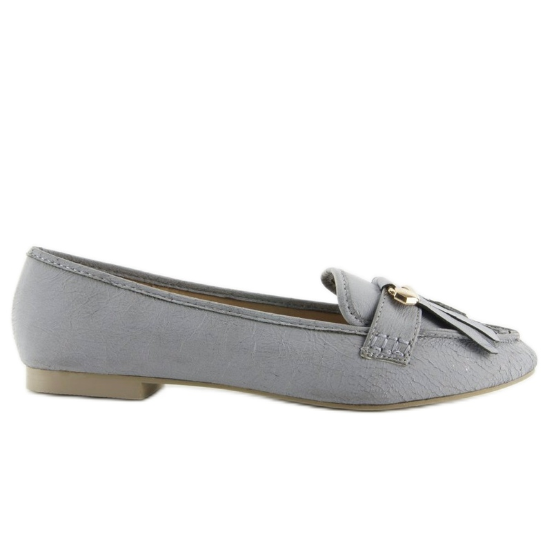 Moccasins in vintage style 3052 Gray grey
