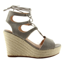 Sandals espadrilles, tied SL71 gray grey
