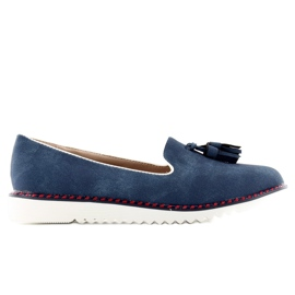 Loafers lordsy with piping 9014 D. blue