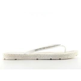 Rubber flip-flops like espadrilles ls069 white