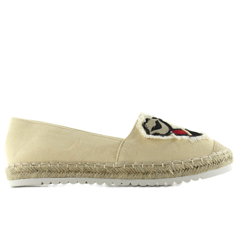 Espadrilles With Patches Mouth F169-28 Beige
