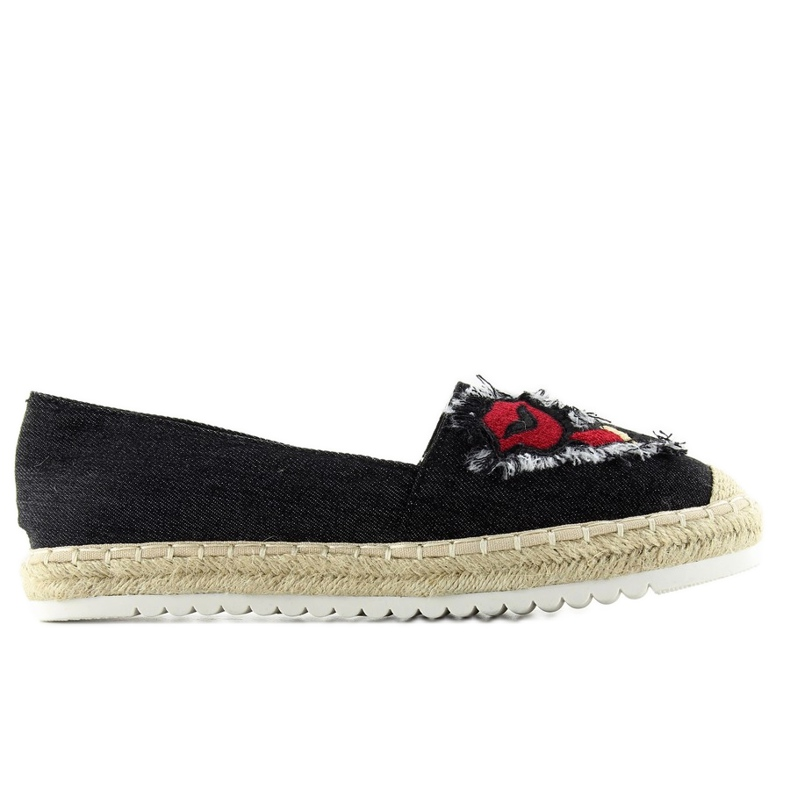 Espadrilles with f169-28 black patches
