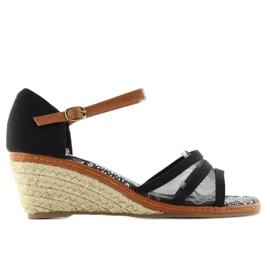 Espadrilles 6M-2 Black sandals