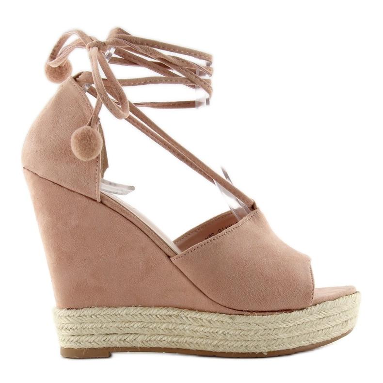 Espadrilles Sandals With Y8P Pink Pompoms