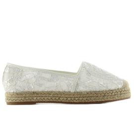 Lace Espadrilles 7137 White