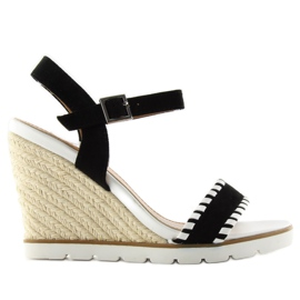 Espadrilles Wedge Sandals Bl-6240 black